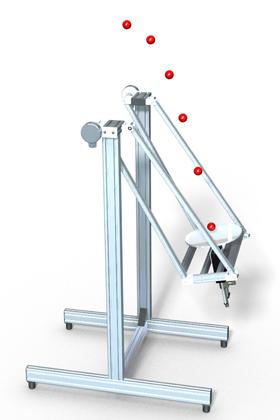 CAD rendering of the Swinging Blind Juggler
